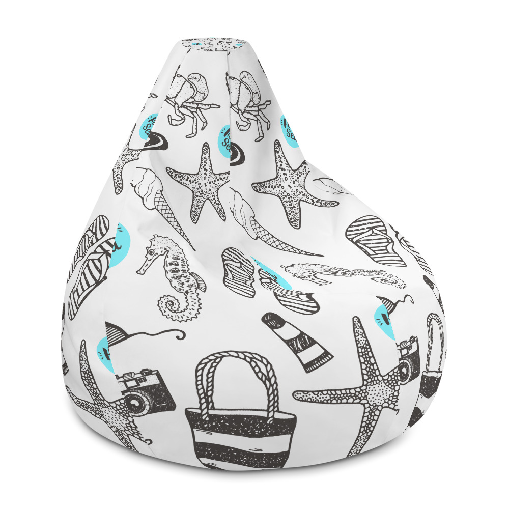 Prime Beach Style All Over Print Bean Bag Chair W Filling Alphanode Cool Chair Designs And Ideas Alphanodeonline